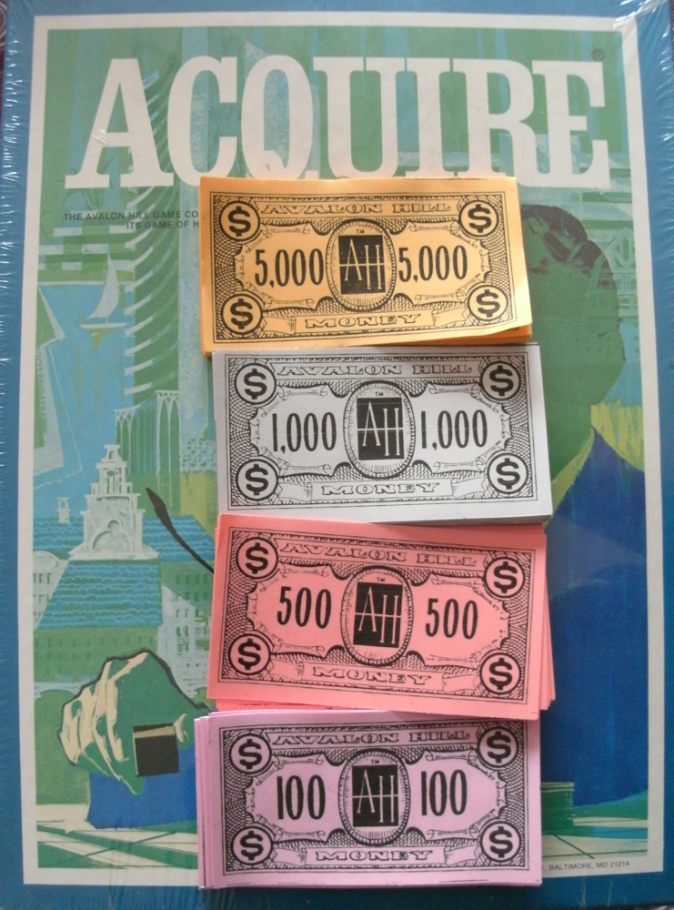 Reproduction Set of Money for ACQUIRE (1976