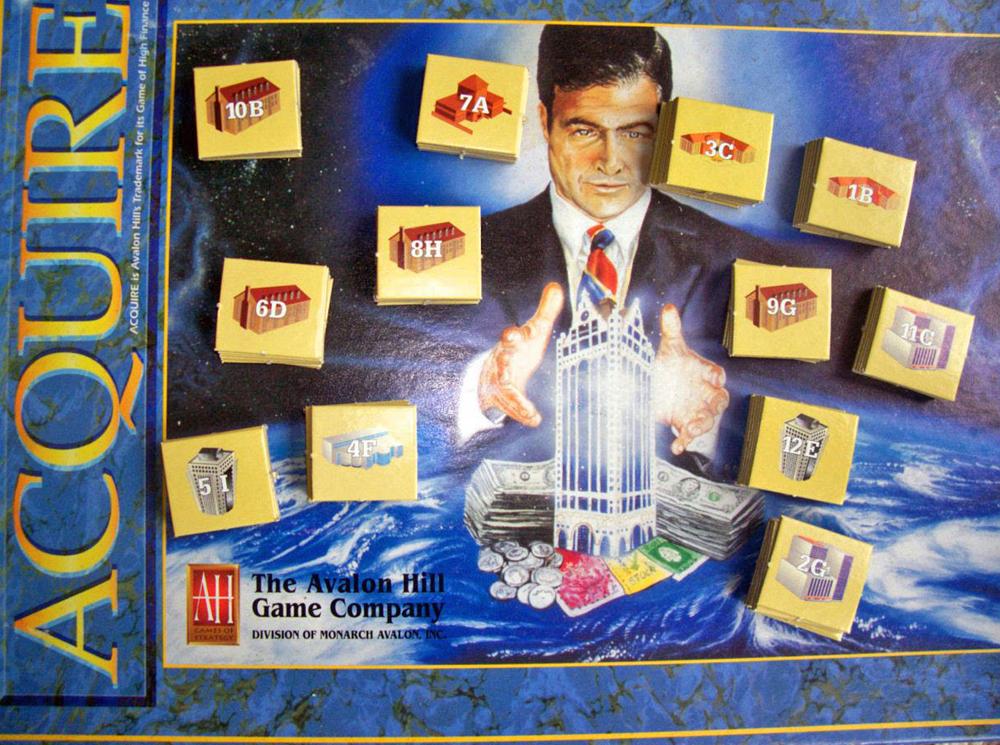 1995 ACQUIRE Cardboard Tiles