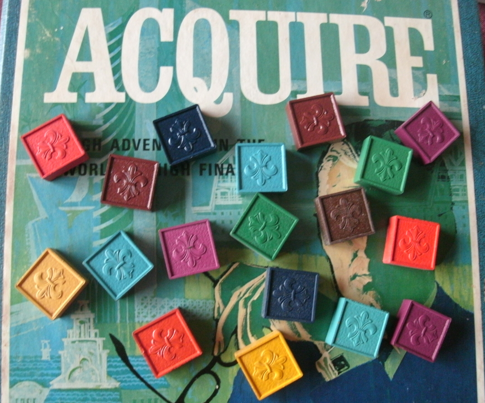 Replacement Wood Hotel Tiles for the 1962/63 wood tile edition of ACQUIRE