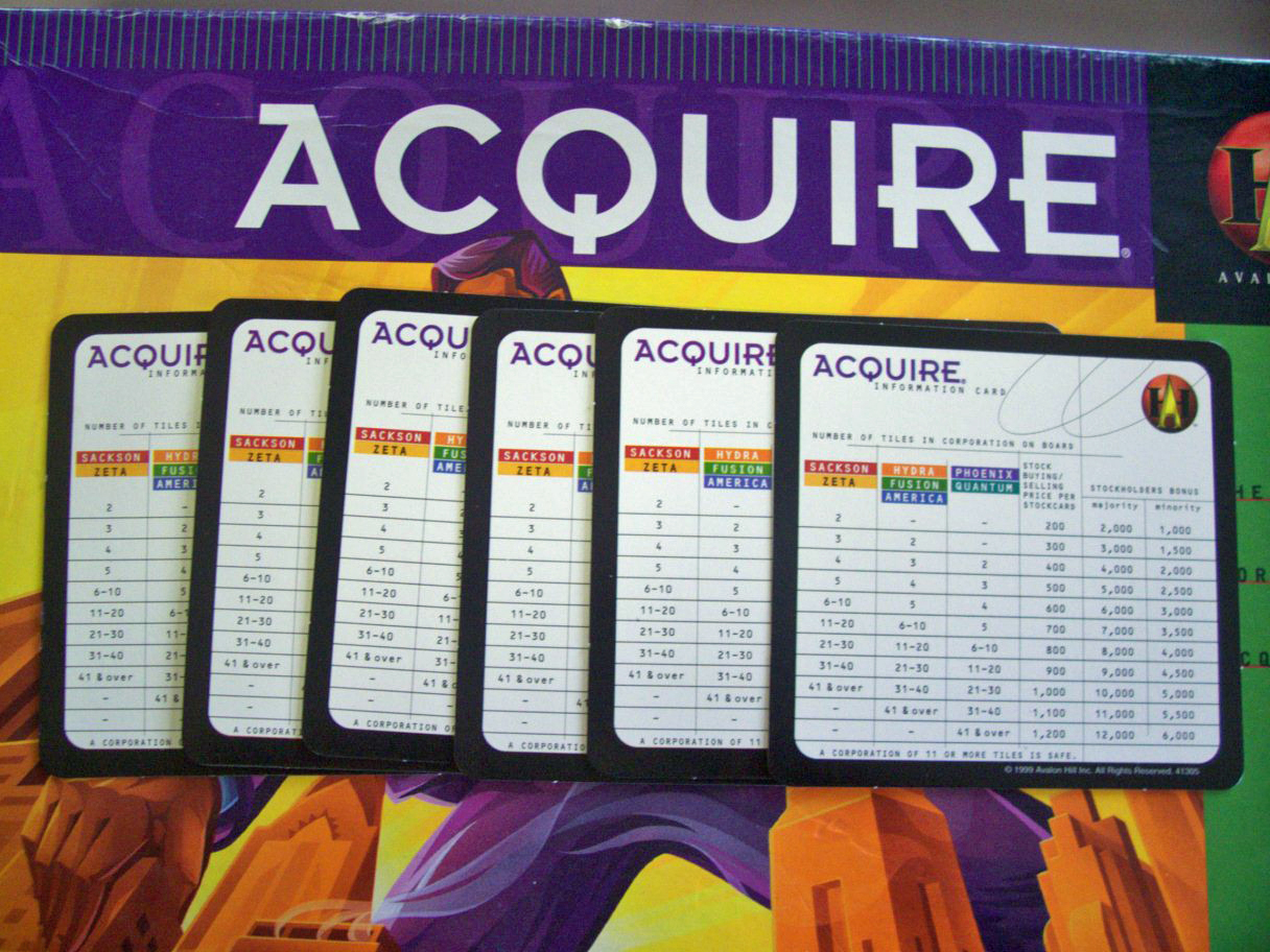 Replacement Information Cards for Hasbro's 1999