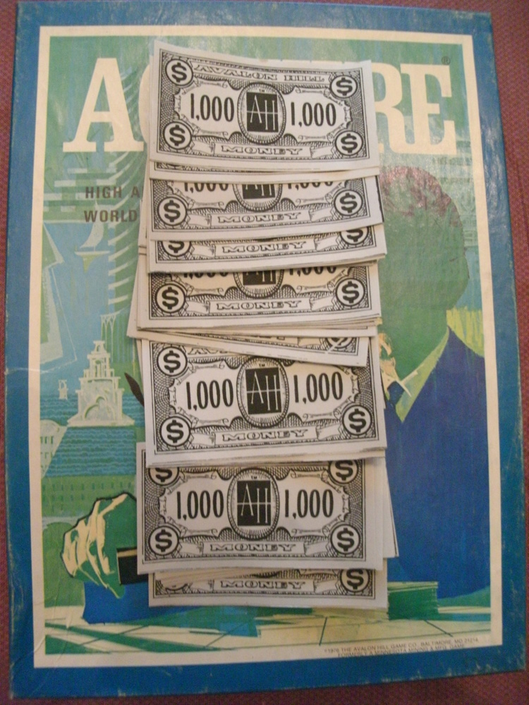 Reproduction Set of $1,000 ACQUIRE Money (1976