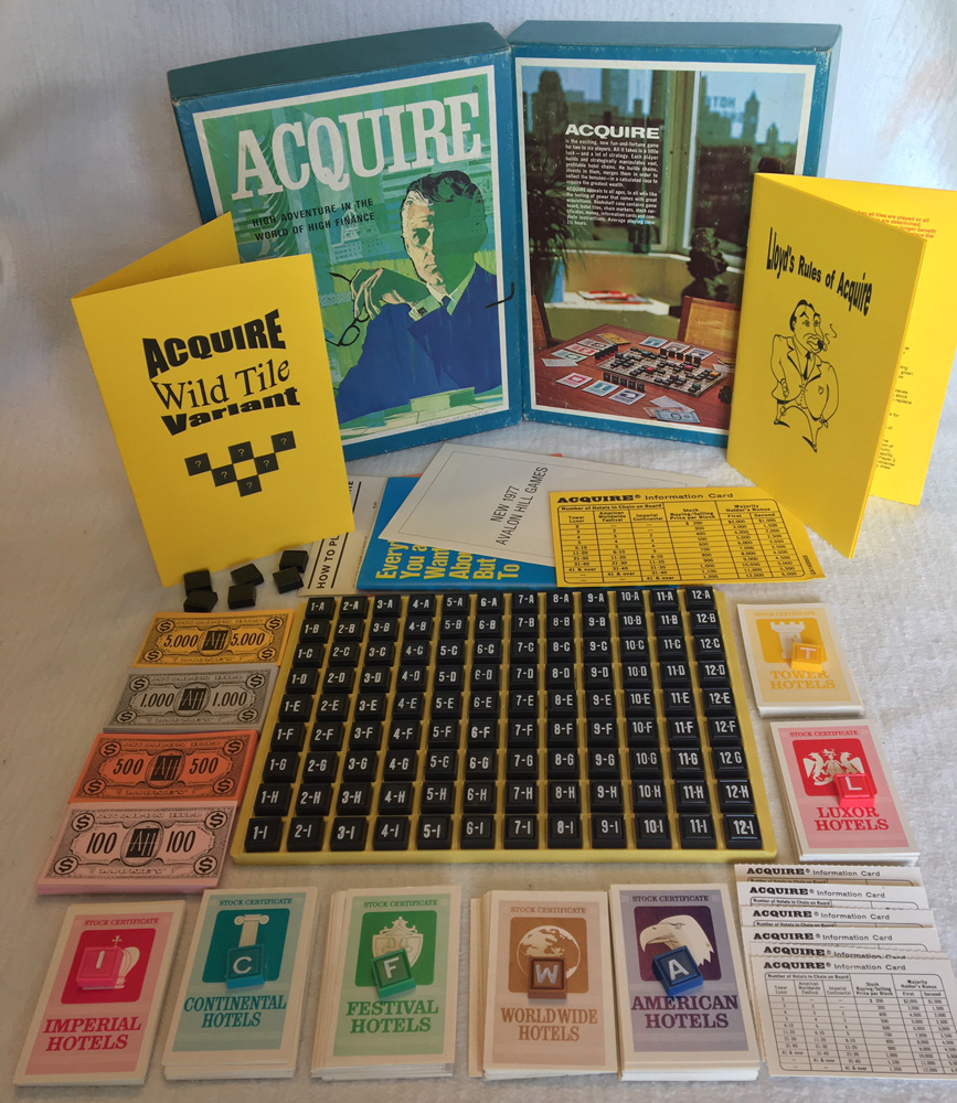 Never-Been-Played 1976 Avalon Hill Edition of ACQUIRE