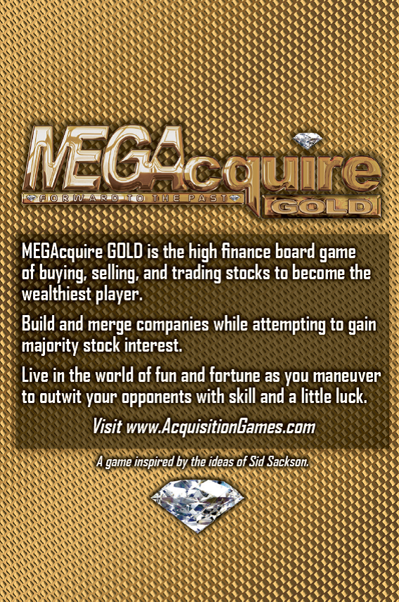 MEGAcquire GOLD Rules Booklet Cover